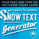 The Snow Text Generator - GraphicRiver Item for Sale