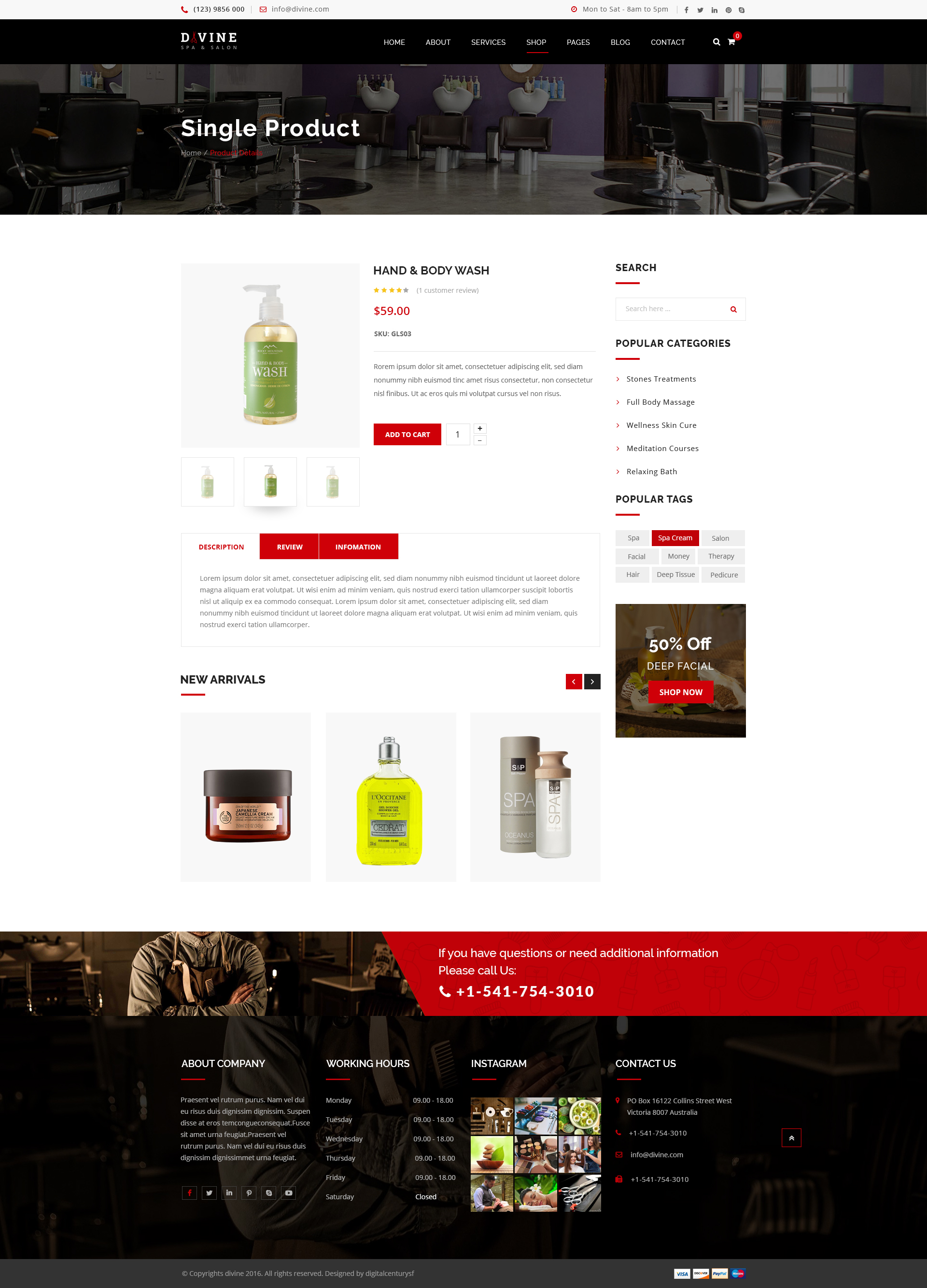 Salon PSD Themes