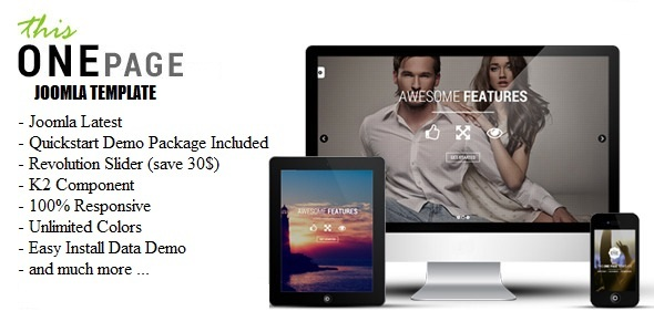 This One – One Page Responsive Joomla Template