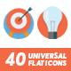 40 Universal Icons