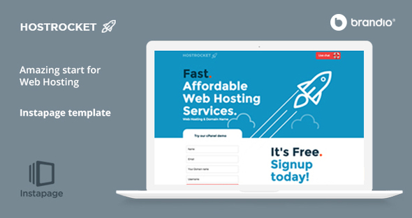 Host Rocket Instapage Template - Web Hosting - Instapage Marketing