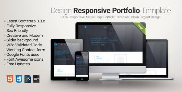 Design – One Page Portfolio Template