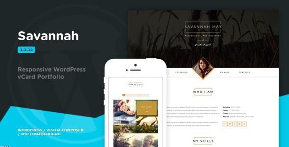 Savannah - Responsive WordPress vCard Portfolio - Portfolio Creative