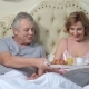 Senior Couple Enjoying Breakfast in Bed - VideoHive Item for Sale