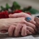 Senior Male Hand Caressing Elderly Female Hand - VideoHive Item for Sale