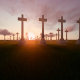 Sunset and Time-lapse Christian Graveyard - VideoHive Item for Sale