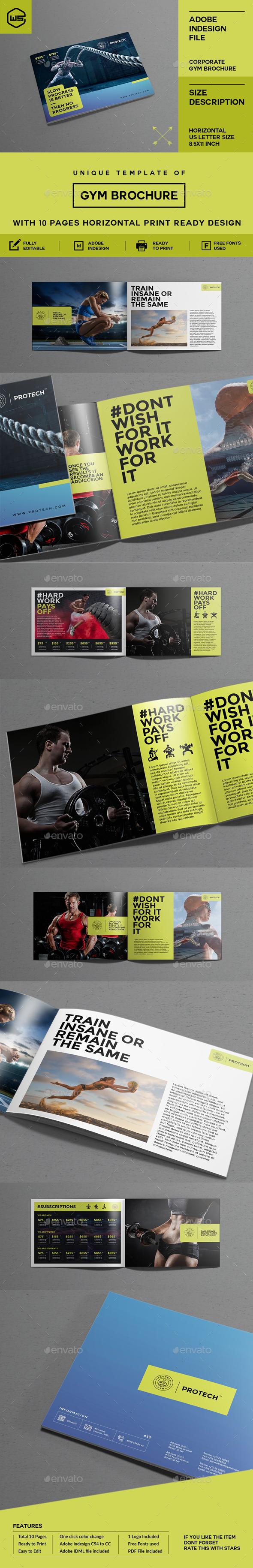 GYM / Fitness Brochure - Brochures Print Templates