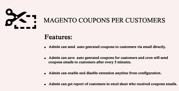 Magento Coupon Per Customer - CodeCanyon Item for Sale