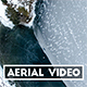 Straight Down Aerial Video of Person lying on a Frozen Lake - VideoHive Item for Sale