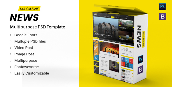 News Magazine – Multipurpose News Magazine PSD Template