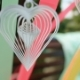White Paper Heart Whirls Among Ribbons - VideoHive Item for Sale