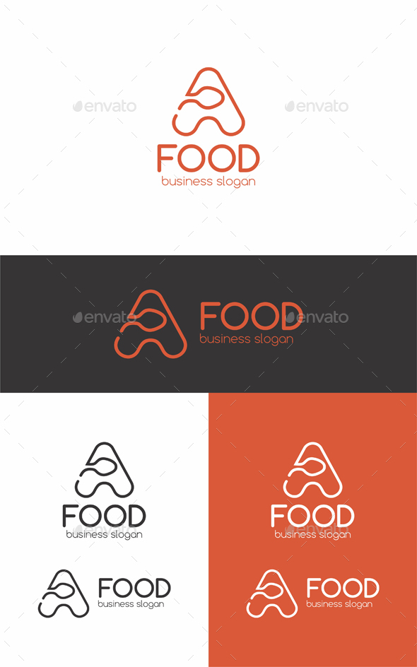 A Food Logo - Letters Logo Templates