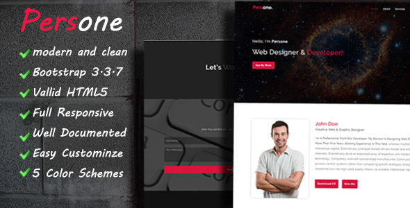 Persone – OnePage Responsive Personal Template