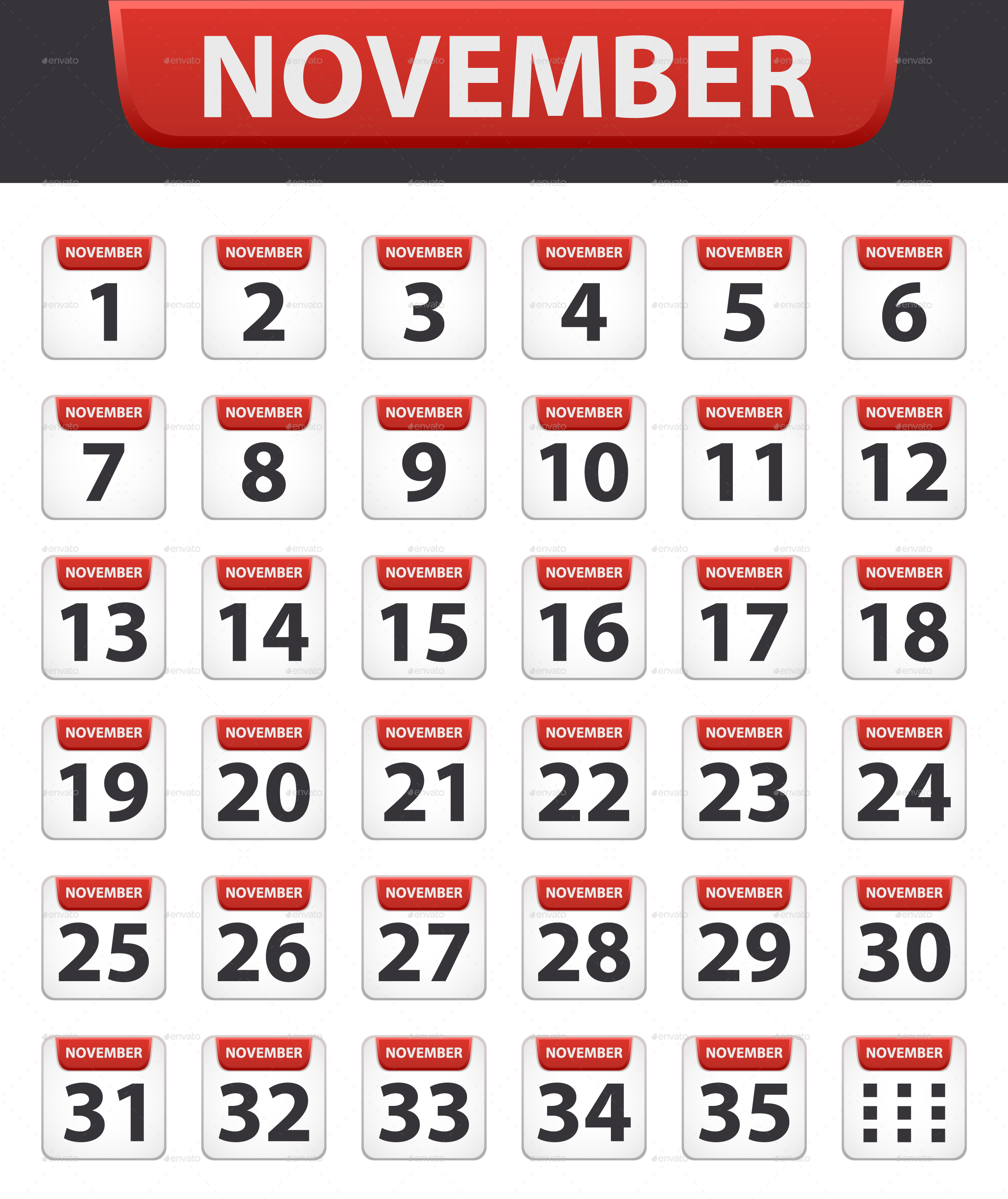 Calendar Days Icon.Calendar Icons For All The Days And Months