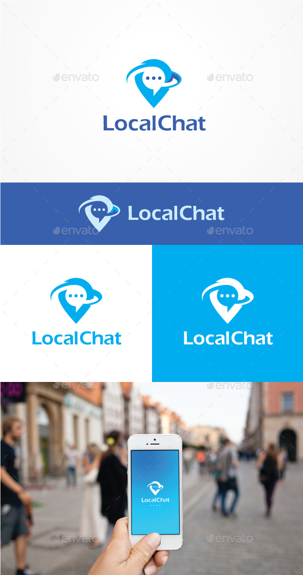 Local Chat - Symbols Logo Templates