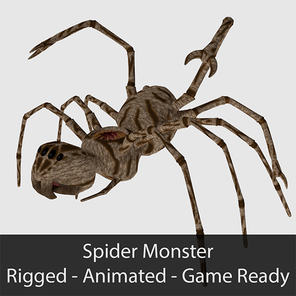 Spider Monster - Game Ready - 3DOcean Item for Sale
