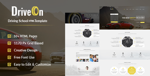 DriveOn – Driving School HTML Template