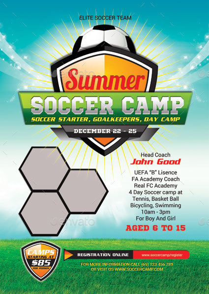 Kids Summer Soccer Camp By Tholai Graphicriver