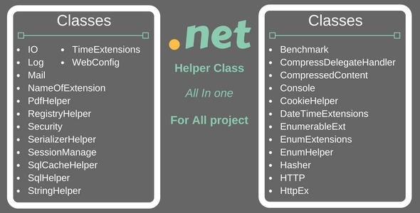 .Net Common Helper Project - CodeCanyon Item for Sale