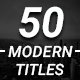 50 Modern Titles Pack - VideoHive Item for Sale