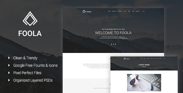 Foola – One Page Multipurpose PSD Template
