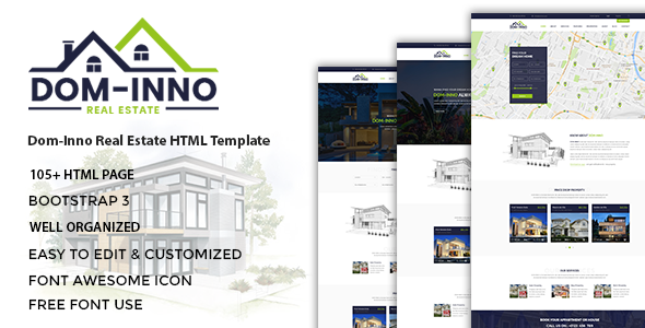 Dominno - Real Estate HTML Template - Business Corporate