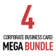 Bundle - 4 Corporate Business Cards - GraphicRiver Item for Sale