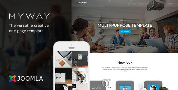 Image of Myway - Joomla Responsive Onepage Template