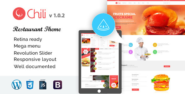 RedChili – WordPress Restaurant Theme