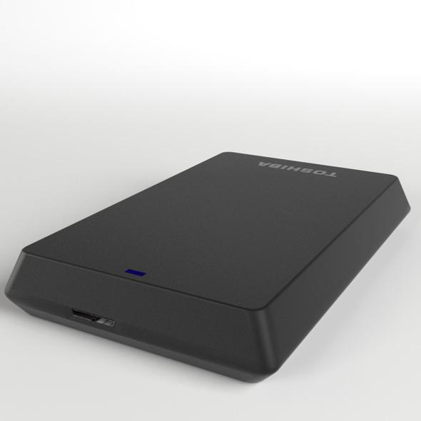 TOSHIBA USB External HDD Hard Disk - 3DOcean Item for Sale