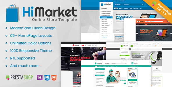 HiMarket – Multipurpose Responsive Prestashop 1.6 and 1.7 Mega Shop Theme