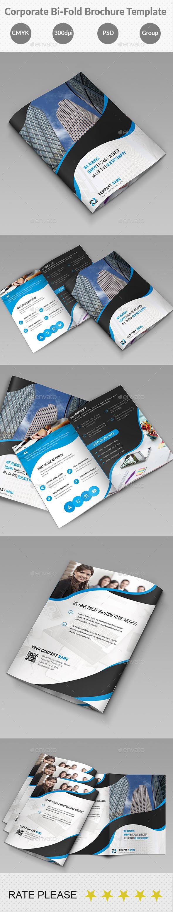 Corporate Bi-Fold Business Brochure Template - Corporate Brochures