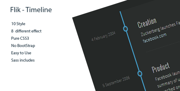 Flik - Timeline 10 Style with Generator - CodeCanyon Item for Sale