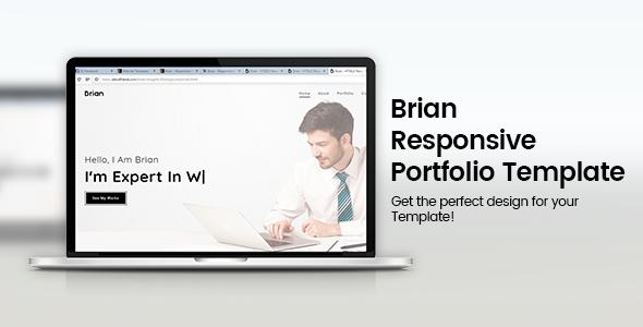 Brian Responsive Minimal Portfolio Template