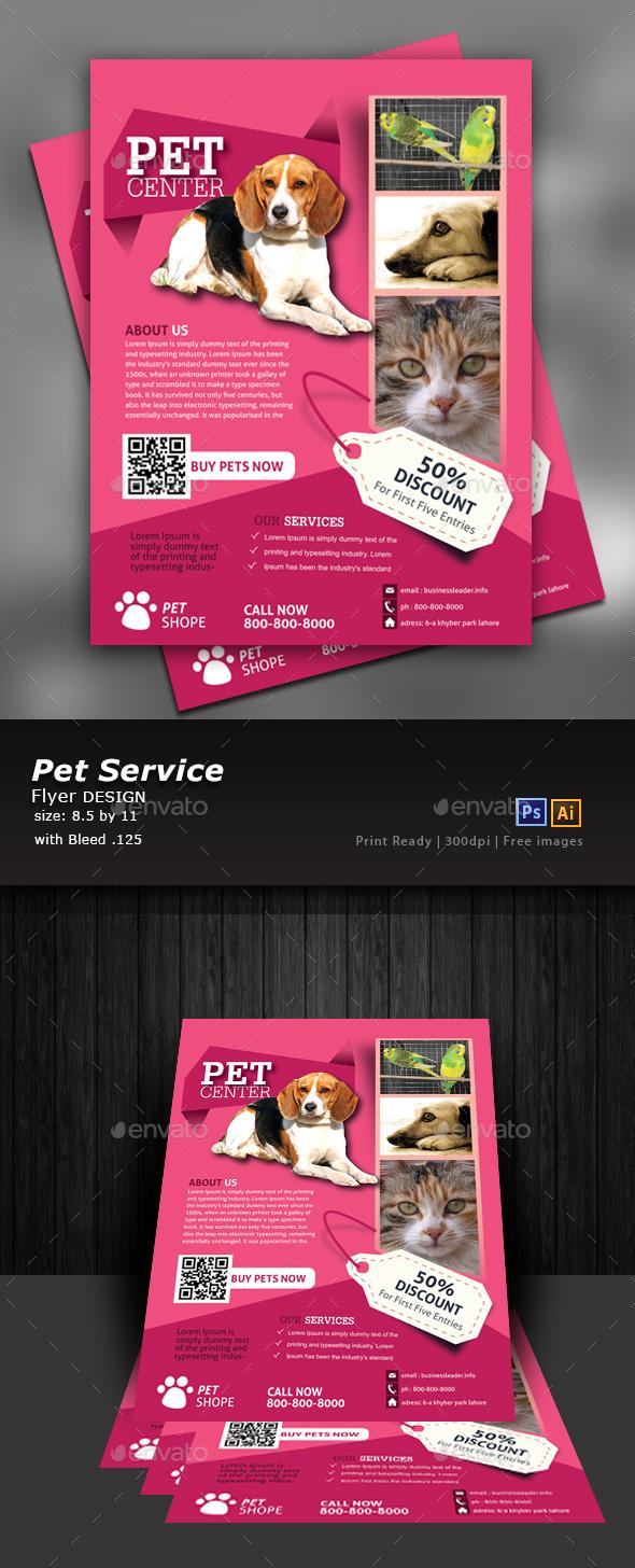 Pet Flyer - Flyers Print Templates