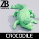 Lowpoly Crocodile - 3DOcean Item for Sale