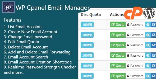 Hezecom Cpanel Email Manager - WordPress Plugin - CodeCanyon Item for Sale