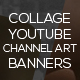 10 Collage Youtube Channel Art Banners - GraphicRiver Item for Sale