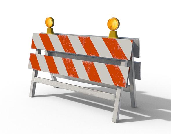 Construction Barrier 02 - 3DOcean Item for Sale