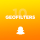 10 Modern Snapchat Geofilters - GraphicRiver Item for Sale