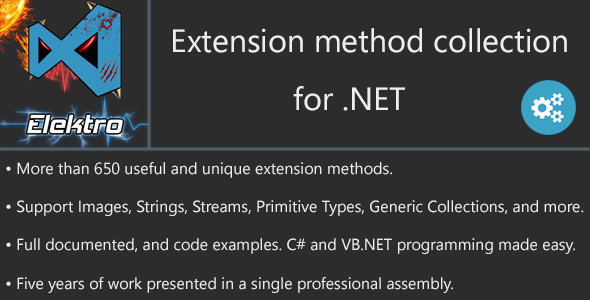 .NET Huge Extension-methods Collection - CodeCanyon Item for Sale