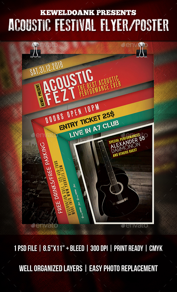 Acoustic Festival Flyer/Poster - Events Flyers