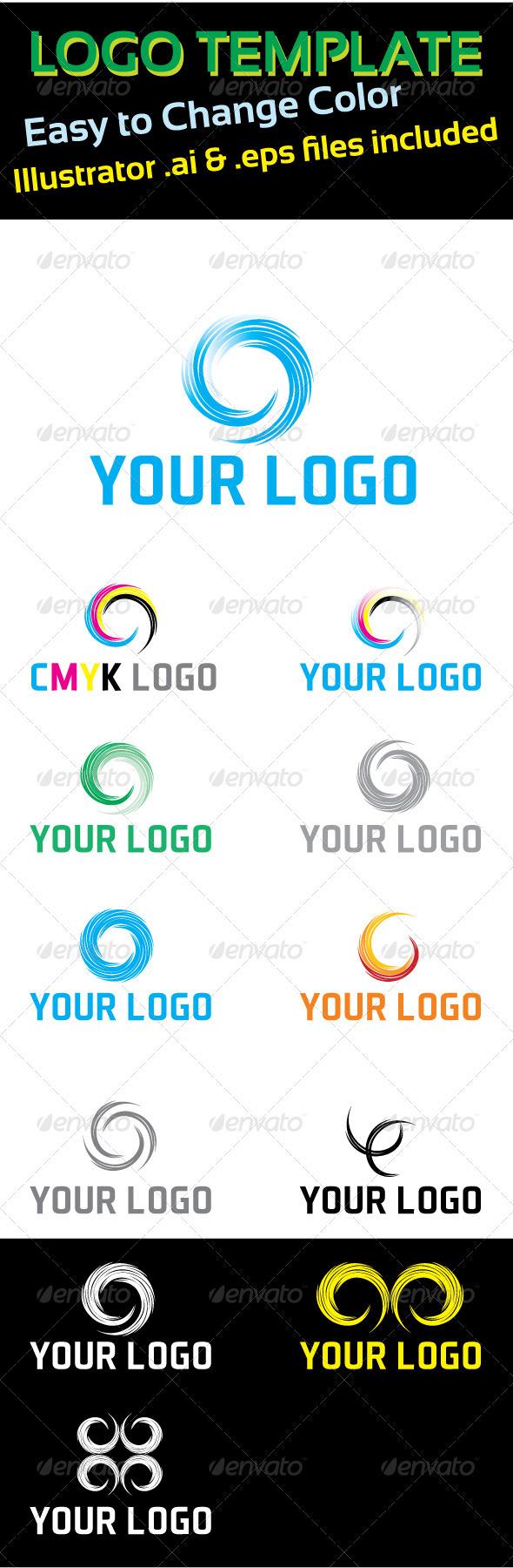 Logo Template Circle Concept - Abstract Logo Templates