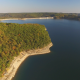 Aerial of Lake Shoreline in Fall - VideoHive Item for Sale