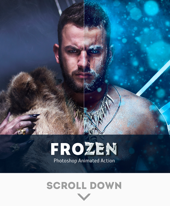 Frozen Animated Photoshop Action - Photo Effects Actions
