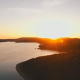 Aerial of Sunset at Lake in Summer - VideoHive Item for Sale