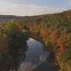 Aerial Above Scenic Country River - VideoHive Item for Sale