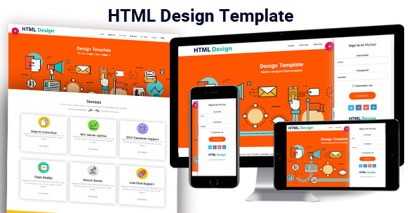 One page HTML Design