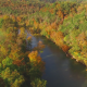 Slowly Flying Above Beautiful Country River - VideoHive Item for Sale