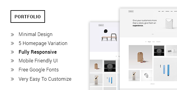 Portfolio - Minimal Portfolio HTML5  Template